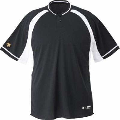 DESCENTE 野球 ソフトボール ジュニア 野球 2ボタンベースボールシャツ 19FW BKSW Tシャツ(jdb103b-bksw)