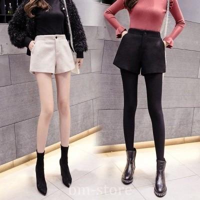 ショーパン短パンショートパンツレディースボトムスレディースパンツカジュアルパンツワイドパンツハイウエスト着痩せ韓国ファッション