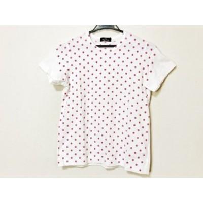 トリココムデギャルソン tricot COMMEdesGARCONS 半袖Tシャツ レディース - 白×ピンク ドット柄/2008年【中古】20210106