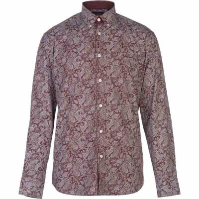 ピエール カルダン Pierre Cardin メンズ シャツ トップス Long Sleeve Printed Shirt Burg/Wht AOP