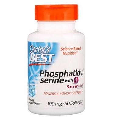 セリンエイド配合ホスファチジルセリン、100mg、ソフトジェル60粒