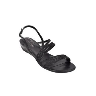 バンドリーノ レディース サンダル シューズ Tillya Women's Strappy Embellished Sandals Black