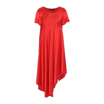 シエス・マルジャン SIES MARJAN 7分丈ワンピース・ドレス レッド 4 レーヨン 100% / シルク 7分丈ワンピース・ドレス