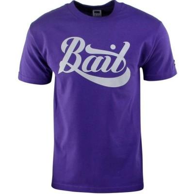 BAIT メンズ Tシャツ ロゴTシャツ トップス Script Logo Tee purple/gray