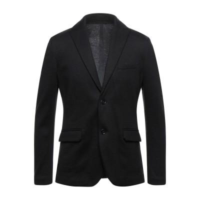 パオロ ペコラ PAOLO PECORA テーラードジャケット ブラック 52 コットン 40% / バージンウール 28% / アクリル 28%