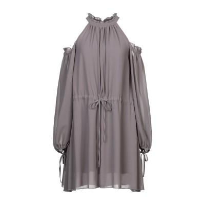 WEILI ZHENG ミニワンピース&ドレス グレー S ポリエステル 100% ミニワンピース&ドレス