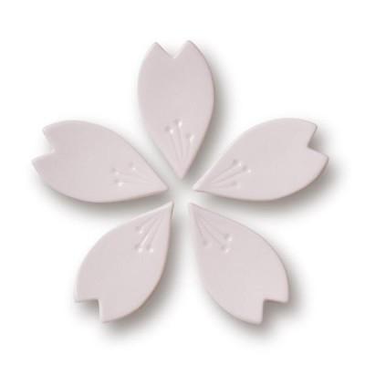 九谷焼 さくら箸置き(ピンク5個セット)hiracle ひらくる