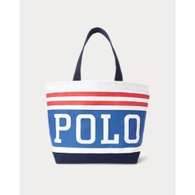ポロ ラルフローレン メンズ Polo Ralph Lauren Polo Canvas Tote トートバッグ WHITE