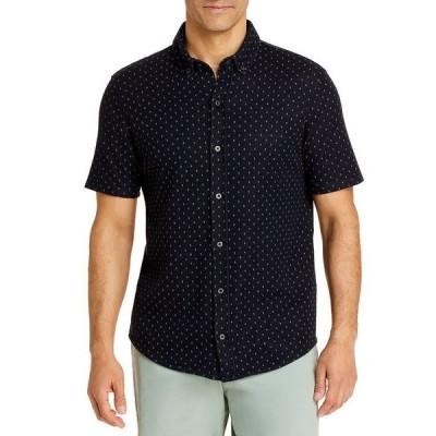 ヴィンス メンズ シャツ トップス Jacquard Short Sleeve Button Down Shirt