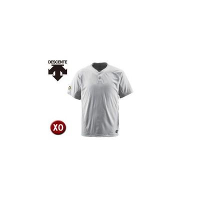 DESCENTE/デサント  DB201-SLV ベースボールシャツ(2ボタン) 【XO】 (シルバー)