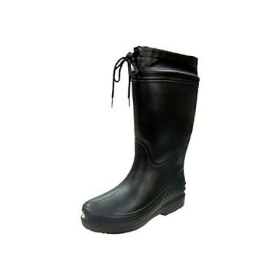 [富士手袋工業] 長靴 超軽量 EVA レインブーツ カバー付 軽作業 6250 メンズ BLACK SS