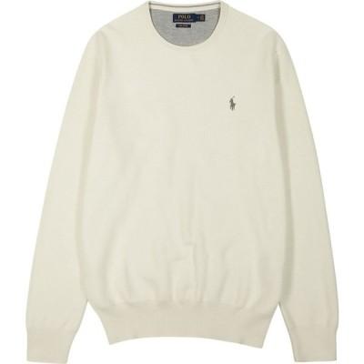 ラルフ ローレン Polo Ralph Lauren メンズ ニット・セーター トップス Off-white knitted cotton jumper Natural