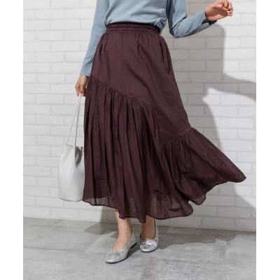 【コーエン】 アシンメトリーカラースカート(ロングスカート/マキシスカート)# レディース DKBROWN FREE coen