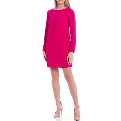 トリーナターク レディース ワンピース トップス Lavaliere Boat Neck Long Sleeve Shift Dress Trina Pink
