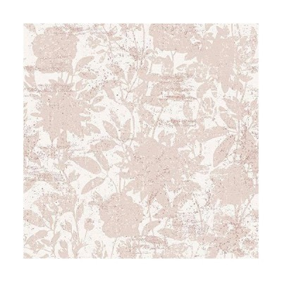 (新品) Tempaper Dusted Pink Garden Floral | Designer Removable Peel and Stick Wallpaper