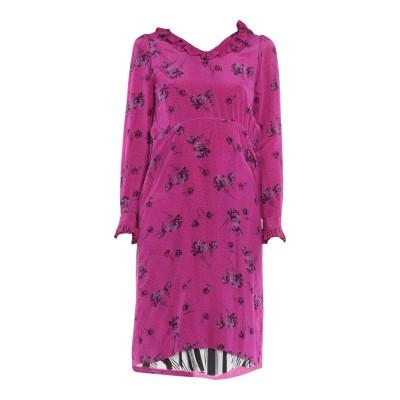 バレンシアガ BALENCIAGA 7分丈ワンピース・ドレス フューシャ 34 シルク 100% / ポリエステル 7分丈ワンピース・ドレス