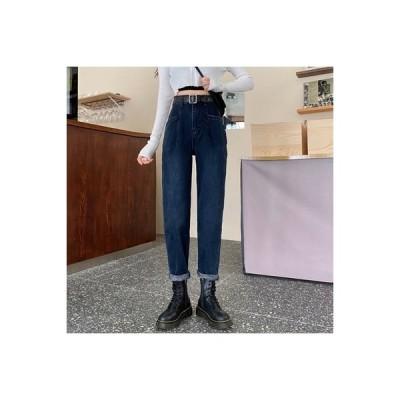 【送料無料】何でも似合う ハーラン ハイウエストのジーンズ 女 秋と冬 韓国風 スト | 364331_A64056-2792699