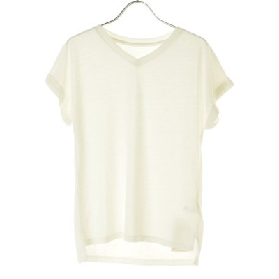 Roomy's Vネック 半袖Tシャツ