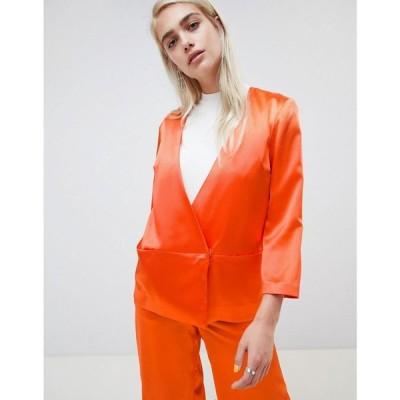 モスコペンハーゲン Moss Copenhagen レディース スーツ・ジャケット アウター Wrap Front Soft Blazer Fiery orange