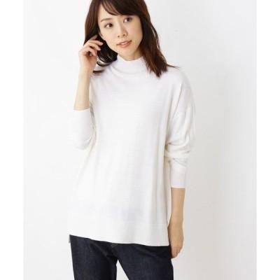 ニット 【洗える・42(LL)WEB限定サイズ】天竺ドルマンハイネック