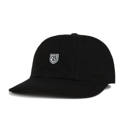 ブリクストン メンズ レディース コットン レザー バック キャップ ブラック/グレー 帽子 BRIXTON B-SHIELD III CAP BLACK/GREY