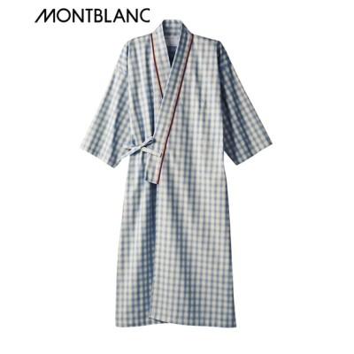 MONTBLANC 患者衣ガウン(8分袖)(男女兼用) ナースウェア・白衣・介護ウェア