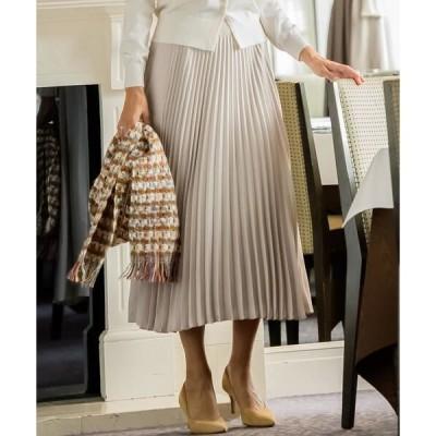 Viaggio Blu(大きいサイズ) / ビアッジョブルー(おおきいサイズ) 【大きいサイズ】センタープリーツスカート