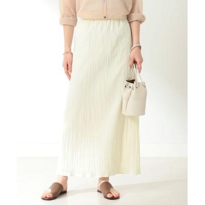 スカート Demi-Luxe BEAMS / ワッシャー タイトスカート