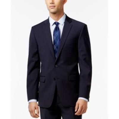 カルバンクライン メンズ ジャケット・ブルゾン アウター Infinite Stretch Solid Slim-Fit Jacket Navy