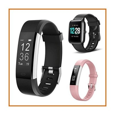 送料無料 LETSCOM Fitness Tracker ID115Plus HR,Bundle with Smart Watch ID205L and Fitness Tracker ID115UHR(3 Items)