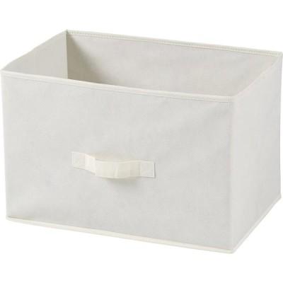 不二貿易 不織布製 インナー ボックス 横型 アイボリー 40494