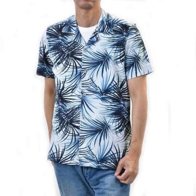 チルコロ ストレッチ オープンカラーシャツ CIRCOLO 1901 CN2300 NOTTE ブルー アロハ