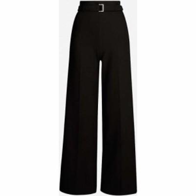 マージュ MAJE レディース ボトムス・パンツ Parc wide-leg high-rise crepe trousers Black