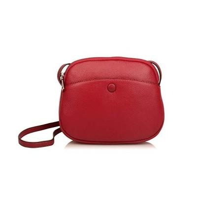 (新品) Ainifeel Women's Genuine Leather Lightweight Small Crossbody Bags Dome Wallet Purse Hobo Bags (Small 8'' (W) x 2.75''(D) x 7''(