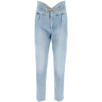 PINKO/ピンコ Light blue Pinko ariel jeans bustier high waist レディース 春夏2021 1J10LS Y64Q ik