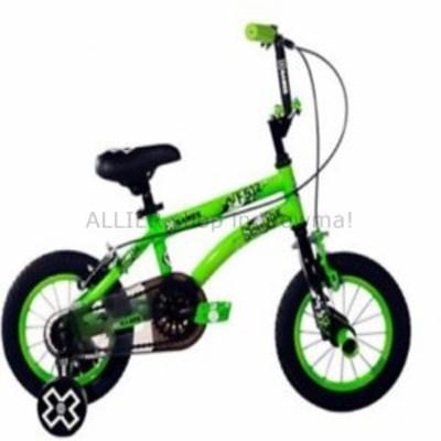 BMX 12のXゲーム男の子自転車グリーンBMXバイク取り外し可能なトレーニングホイール子供合金  12 X-GAMES Boys