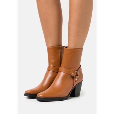 レディース 靴 シューズ Cowboy/biker ankle boot - cognac