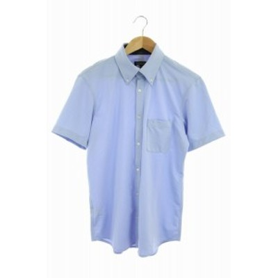 【中古】ブラックレーベルクレストブリッジ BLACK LABEL CRESTBRIDGE 半袖BDシャツ L 水色 /HK ■OS メンズ
