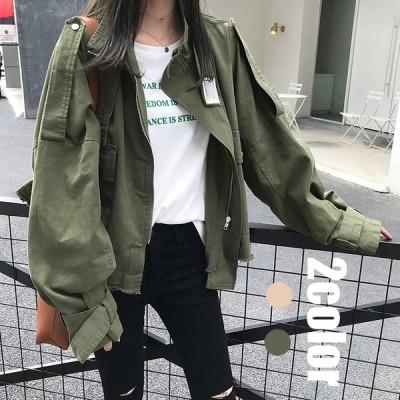 ジャケット コート レディース 春秋 長袖 40代 30代 50代 オシャレ ショート カジュアルジャケット 着痩せ 韓国風 通勤 立ち襟 ゆったり きれいめ 2色