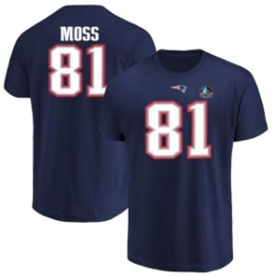 Majestic マジェスティック スポーツ用品  Majestic Randy Moss New England Patriots Navy Hall of Fame Inductee Player