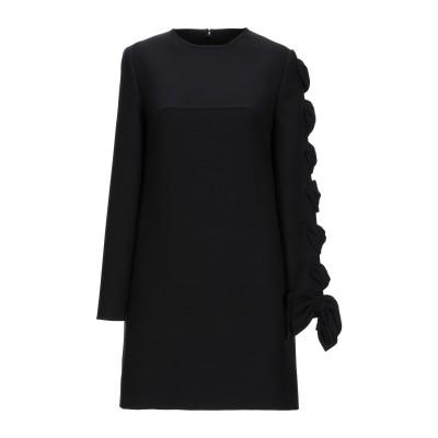 ヴァレンティノ VALENTINO ミニワンピース&ドレス ブラック 42 バージンウール 100% / シルク ミニワンピース&ドレス
