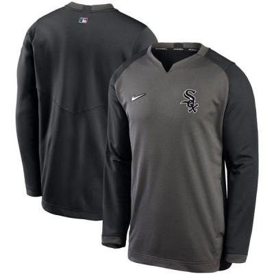 シカゴ・ホワイトソックス Nike Authentic Collection Thermal Crew Performance Pullover スウェットシャツ - Charcoal/Black