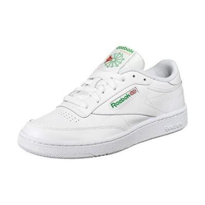 Reebok mens Club C 85 Walking Shoe, White/Green, 9.5 US