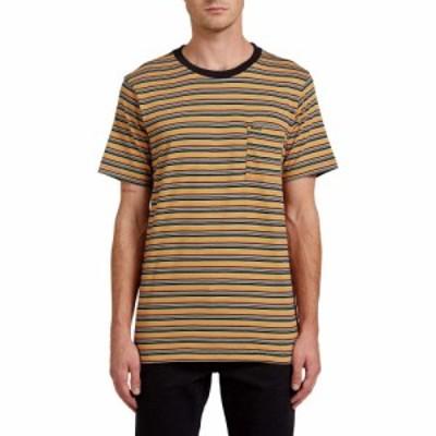ボルコム VOLCOM メンズ Tシャツ ポケット トップス Cornett Stripe Pocket T-Shirt Black