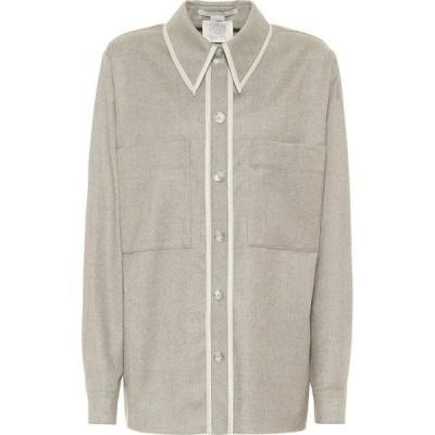 ステラ マッカートニー Stella McCartney レディース ブラウス・シャツ フランネルシャツ トップス Ariel Wool Flannel Shirt Willow Grey