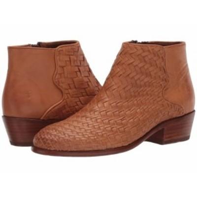 Frye フライ レディース 女性用 シューズ 靴 ブーツ アンクル ショートブーツ Carson Woven Bootie Tan Soft Full Grain【送料無料】
