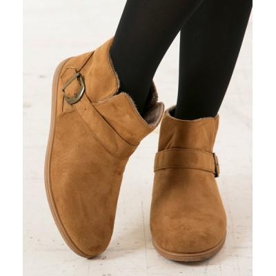 kobelettuce / [M/L]ベルトデザインショートブーツ*レディース/シューズ/靴/裏起毛/暖か[I1578]神戸レタス WOMEN シューズ > ブーツ