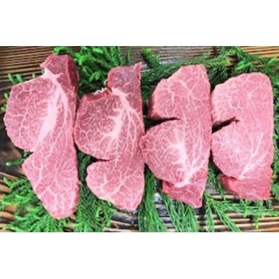飛騨牛最高級5等級ヒレ肉のステーキ(テート)4枚で640gをお届けいたします。[K0005]