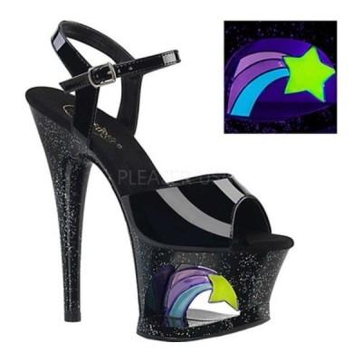 プリーザー オックスフォード シューズ レディース Moon 709RSS Platform Ankle Strap Sandal (Women's) Black Patent/Black