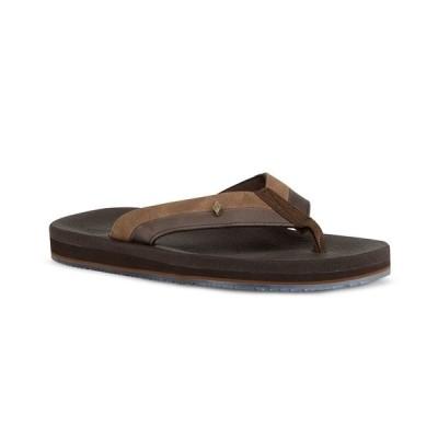 ガイ ハーヴェイ サンダル シューズ メンズ Men's Castaway Flyer Flip-Flop Sandal Brown
